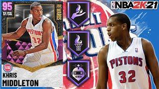 PINK DIAMOND KHRIS MIDDLETON GAMEPLAY! SHOULD YOU LOCK HIM IN? NBA 2K21 MyTEAM