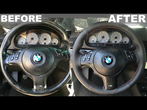 REWRAP BMW STEERING WHEEL UNDER $50