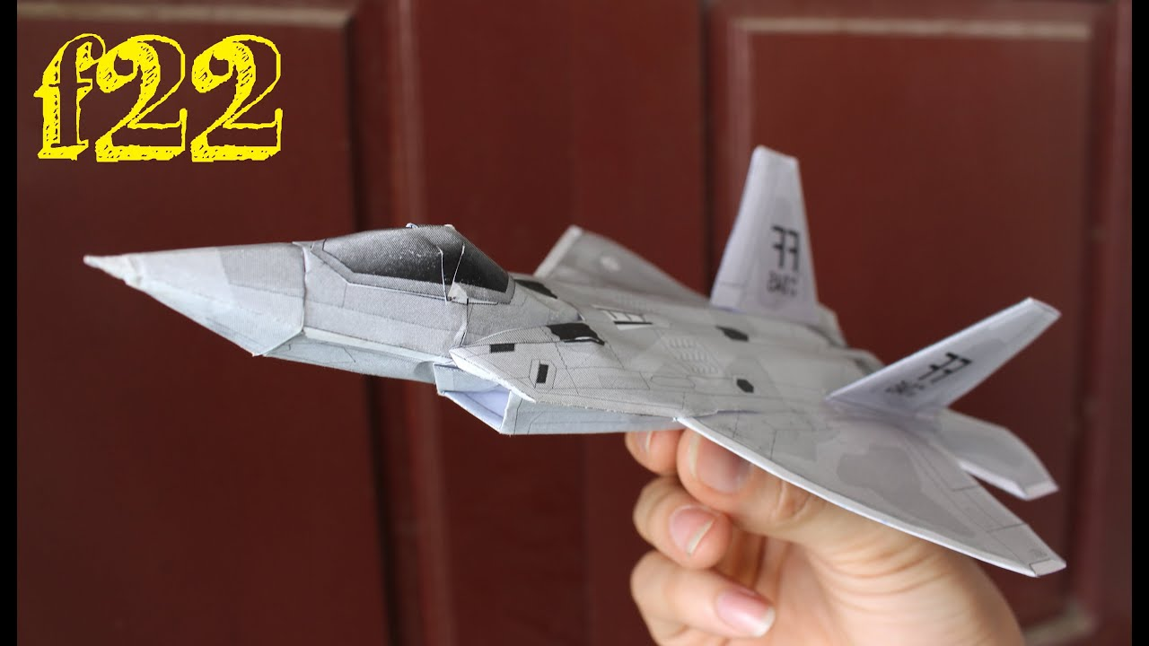 Célèbre Faire un avion F 22 Raptor | Papier 3D avion - YouTube EJ27