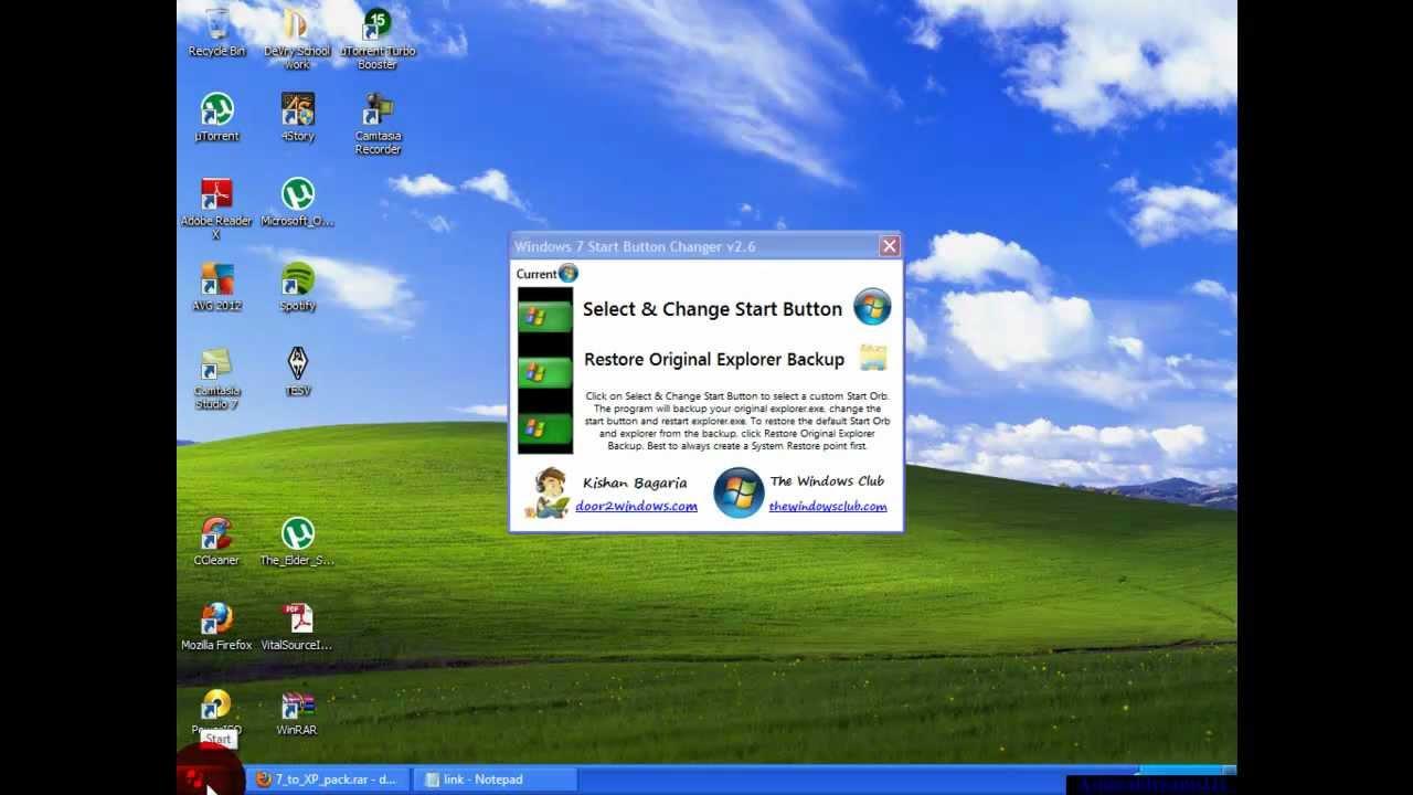 How to make Windows 7 look like Windows XP! - YouTube
