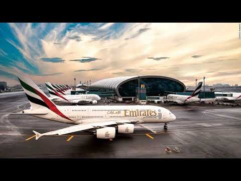 Emirates Airline Company Lights Hanging By Tunisia Authorities