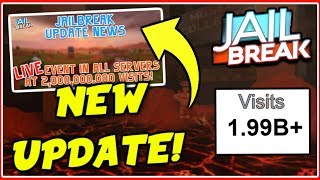 ROBUX GIVEAWAY! | Roblox Jailbreak ERUPTION UPDATE Next Saturday! | 1.7K SUBS! | ROBLOX LIVE🔴