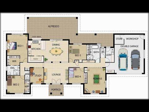 Planos de casas 3d con medidas youtube - Planos en 3d de casas ...