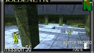 GoldenEye-007 (N64) Gameplay Walkthrough extra aztec Agente secreto mision 56 100% cheat 9:00 laser