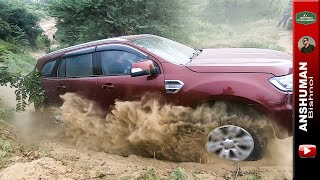 Test of Grunt on Sandy Hill Climb: Fortuner, Endeavour, V-Cross, Duster AWD