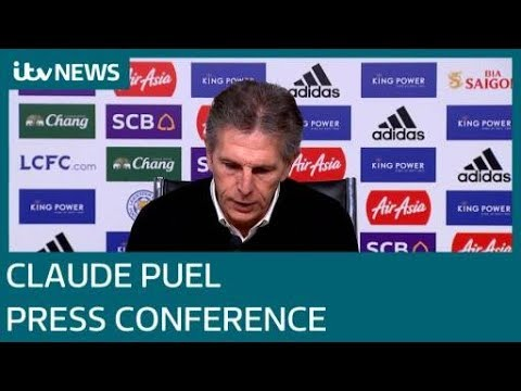 Claude Puel first press conference since Leicester City helicopter crash | ITV News
