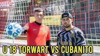 U 18 Schweizer Torwart Talent VS Cubanito l Fussball Challenge!!
