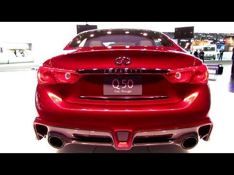 2015 Infiniti Q50 Eau Rouge - Exterior and Interior Walkaround - Debut at 2014 Detroit Auto Show