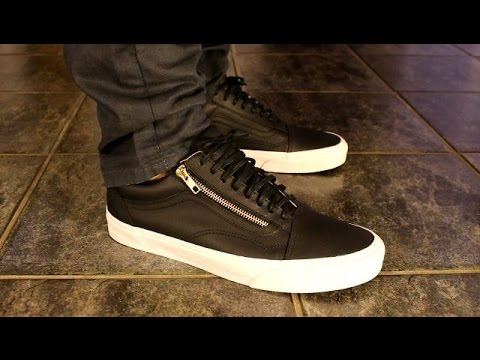 161214d4d643a6 Vans Old School premium leather zip - ON FOOT - YouTube