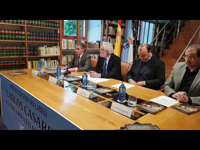 Presentación do libro 'Carlos Casares no Parlamento de Galicia'