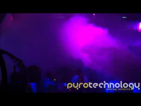 Pyrotechnology Cryojets at the Ministry Of Sound