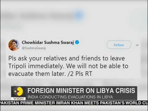Libya Crisis: MEA Sushma Swaraj asks Indians to leave Tripoli immediately as situation worsens