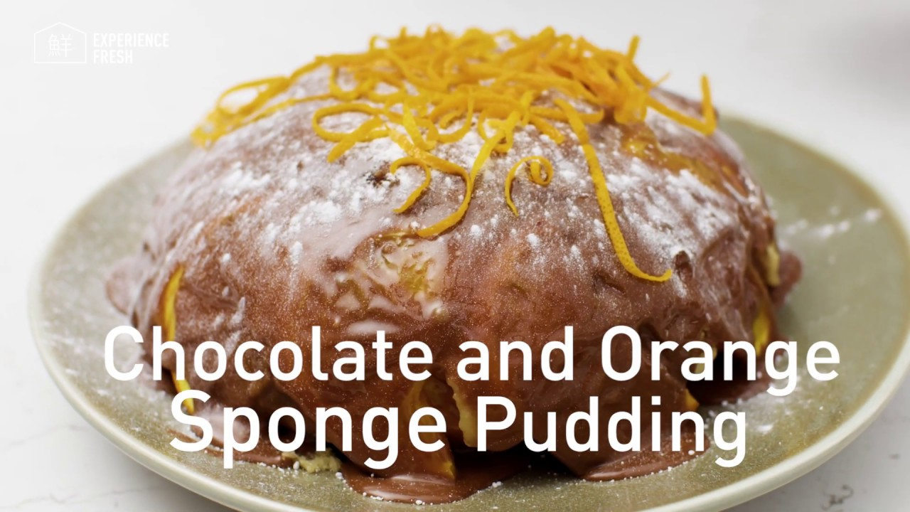 Chocolate Orange Sponge Pudding Panasonic Microwave St48