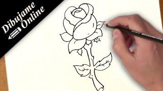 como dibujar una rosa   como dibujar una rosa paso a paso