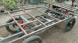 mobil mesin motor Cyclekart 125cc on project