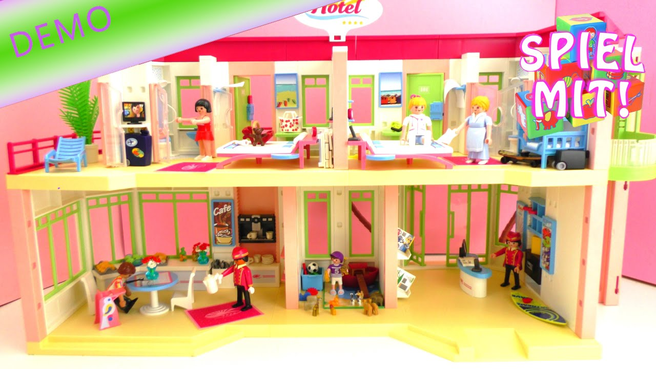 playmobil hotel aufbau wir richten unser ferienhotel sch n ein youtube. Black Bedroom Furniture Sets. Home Design Ideas