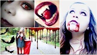 DIY Vampire Halloween Costume+Makeup!
