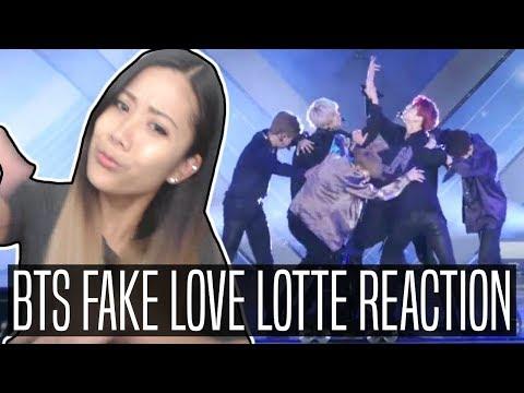 BTS (방탄소년단) FAKE LOVE LOTTE REACTION | NEW HAIR COLOR! | (2018롯데패밀리콘서트)