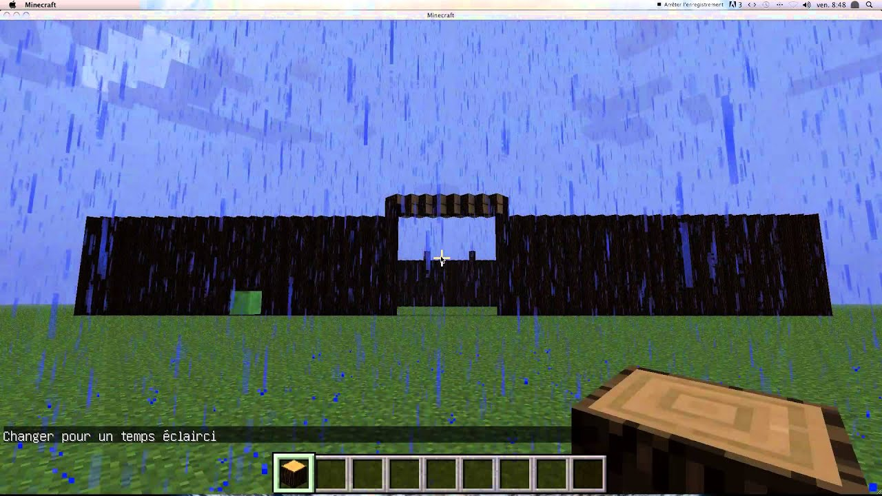 comment faire venir la nuit minecraft