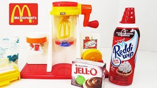 McDonald's SHAKE MAKER | Happy Meal Magic, Ice Cream Shakes - Toy Food For Kids
