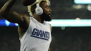 Odell Beckham warms up before Giants vs. Eagles
