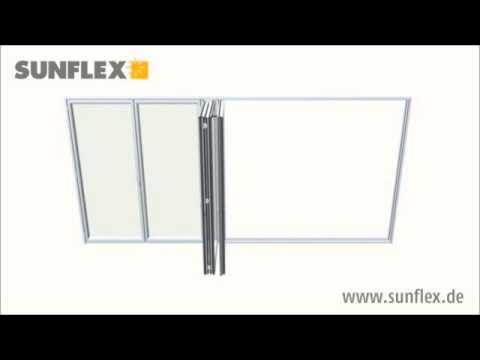 New Glass Technology SF50 SF55 SF70 Glazen vouwwand