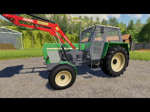 Morning Toilet, breakfast and for Work | Tractors and Animal Feeding - Front loader and tanker LS19 |