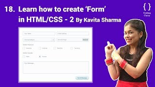 How to create Form in html/css, Part 2 - HTML tutorial for beginner in Hindi, Part-18