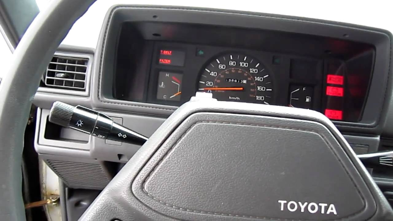 old 1987 toyota pick-up truck (hilux) 2.4D diesel engine - YouTube