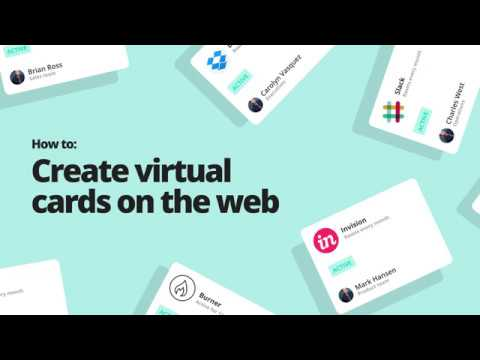 Create virtual cards on the Web [How to]
