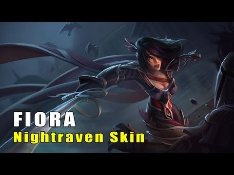 League of Legends Nightraven Fiora Skin