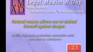 """Legal Maxim A Day - Mar. 27th 2013 - """"Natural reason allows..."""""""