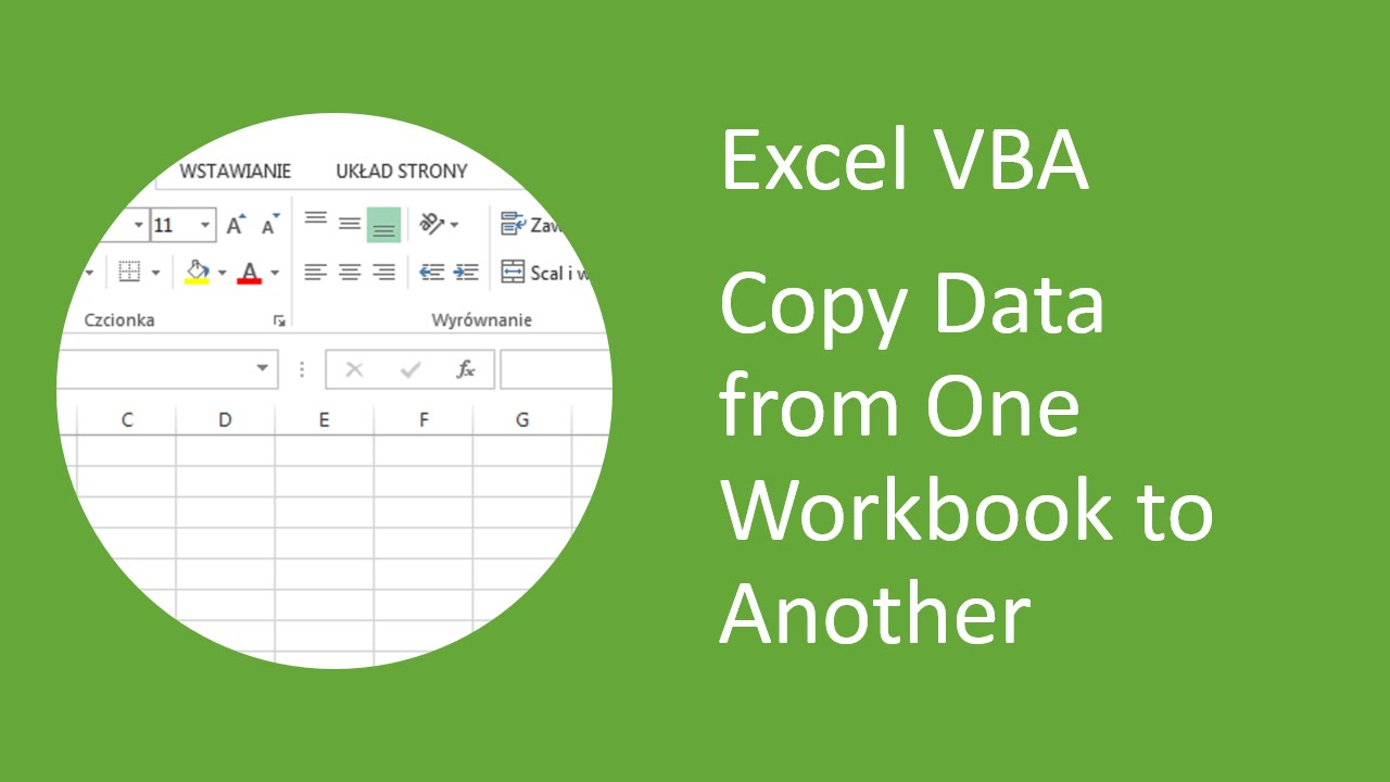 excel vba how to copy data from one workbook and paste into another youtube. Black Bedroom Furniture Sets. Home Design Ideas