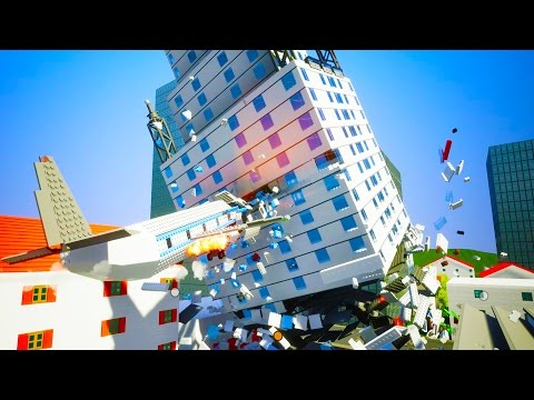 BOEING 787 CRASHES INTO HUGE CORPORATE BUILDING!  - Brick Rigs Workshop Creations Gameplay