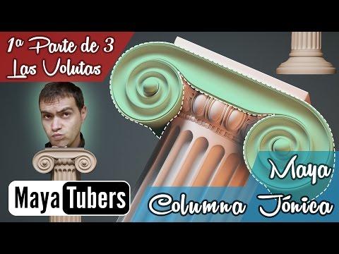 Modelar la Columna Jónica con Autodesk Maya? 01/03 Tutoriales 3D Maya Español - MayaTubers