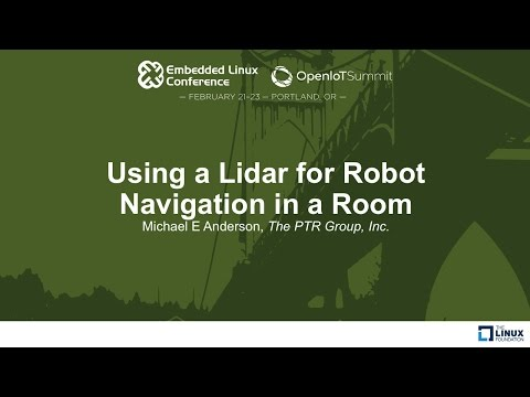 Using a Lidar for Robot Navigation in a Room - Michael E Anderson, The PTR Group, Inc.