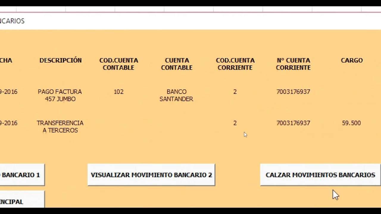 CONTABILIDAD EN EXCEL NIIF/IFRS-CONCILIACION BANCARIA - YouTube