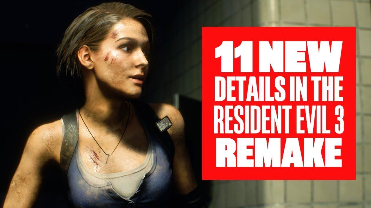Resident Evil 3 Gameplay Videos Confirm 4 Vital Remake Updates