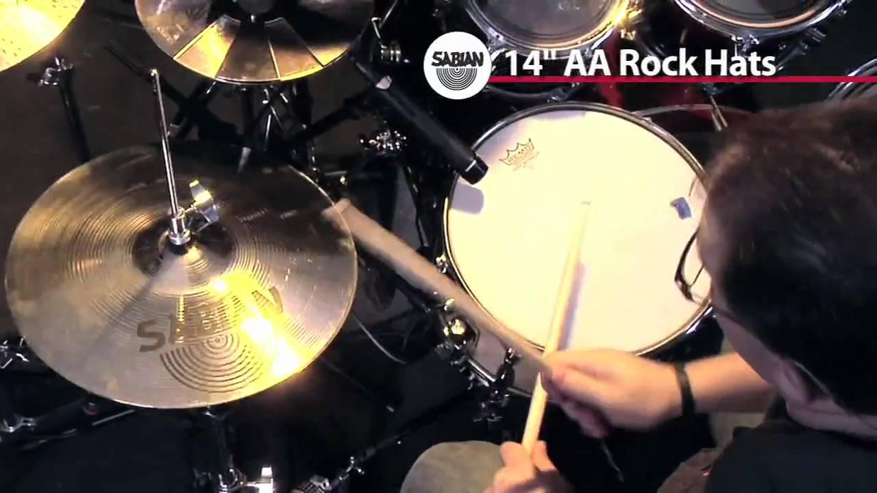 Sabian 14 aa rock hi hat cymbals musicians friend