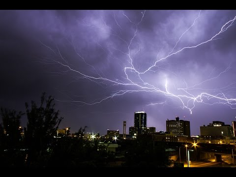 Downtown Fort Worth, TX - May 26th 2015 - Lightning Storm Ti