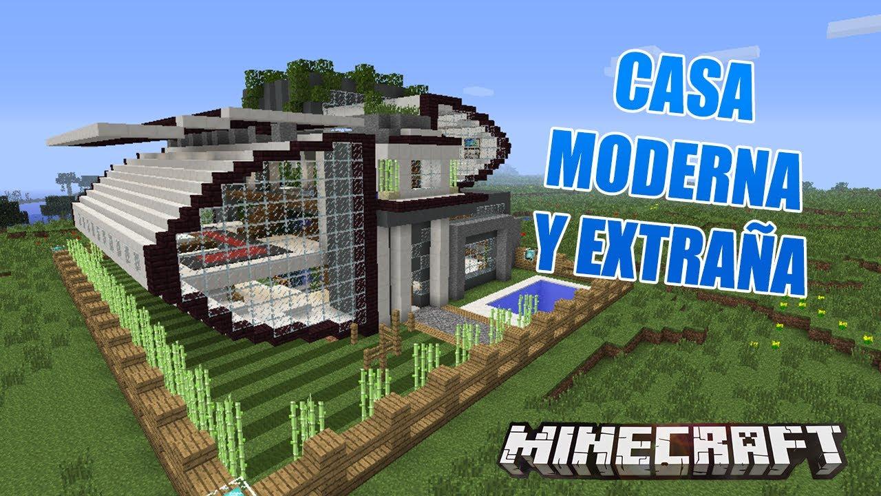 Minecraft casa moderna y extra a casas de suscriptores for Casa moderna 9002
