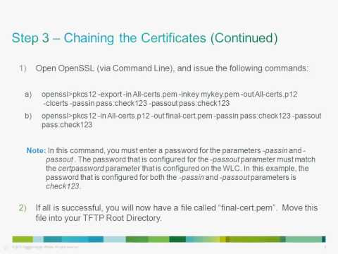 Installing Third Party SSL Certificates for Guest Access