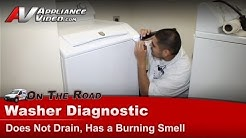 Washer Repair - Not Draining & Burning Smell -Maytag,Whirlpool,Roper,Kenmore,Sears MAV7600AWW