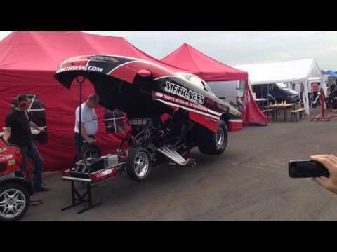 Beautiful sound of a Top Methanol Funny car  with 3000 bhp! Meth-ness