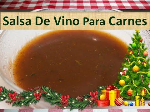 Salsa Para Carnes Caseras - Receta Salsa De Vino Para Carnes