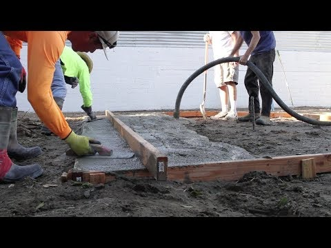 How To Build a Cement Slab for BBQ