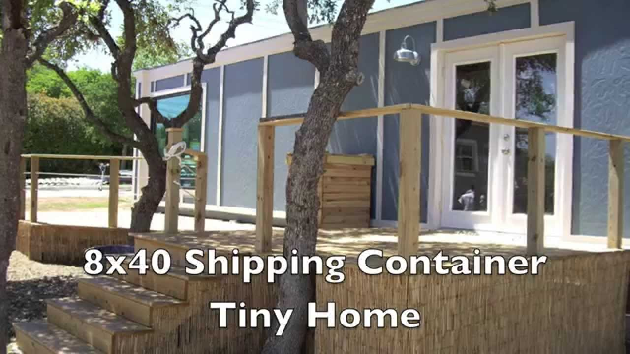 8x40 Shipping Container Tiny Home Built by Students