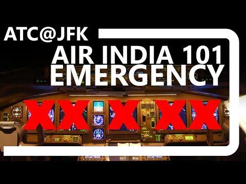ATC@JFK  Air India 101 Emergency  Complete instrument failure