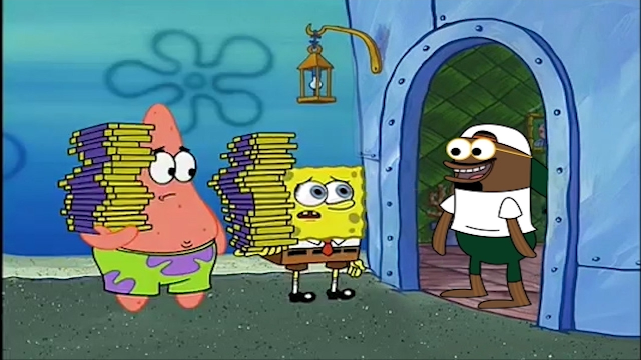 Spongebob tried to sell chocolate in MEMPHIS