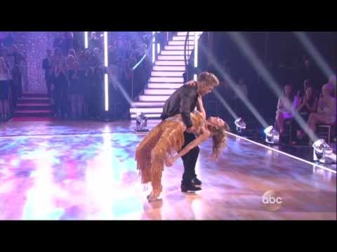 Derek Hough and Amy Purdy dancing Cha cha cha on DWTS 3 17 14